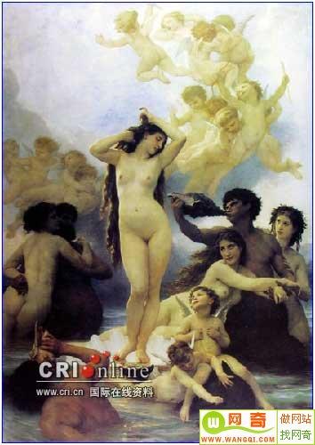 的这一幅《维纳斯的诞生》,在同类题材的绘画中有其独特之处.图片
