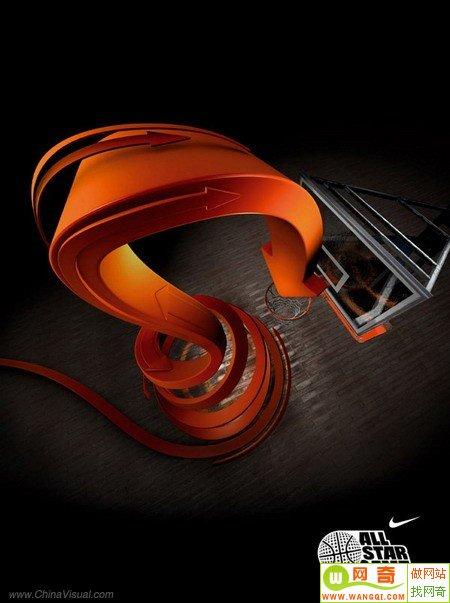 创意手绘运动鞋海报欣赏