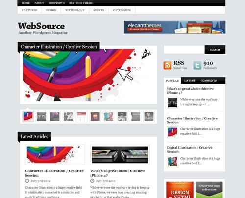 优秀企业网站模板欣赏